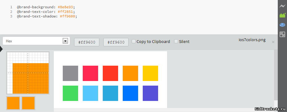 Brackets Color Palette v1.3.0