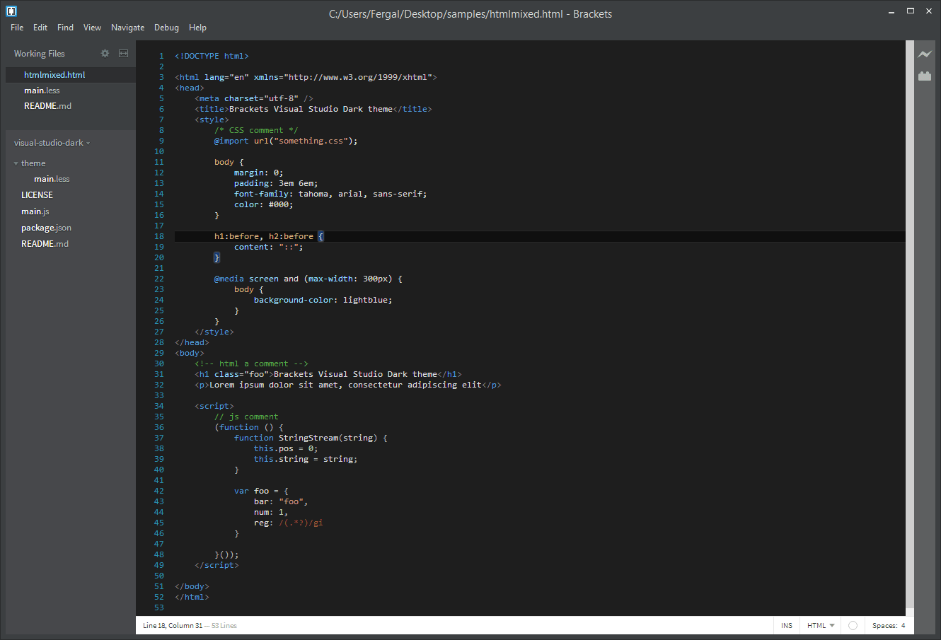 Visual Studio Dark v1.1.3